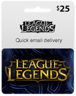 league of legends card 25$